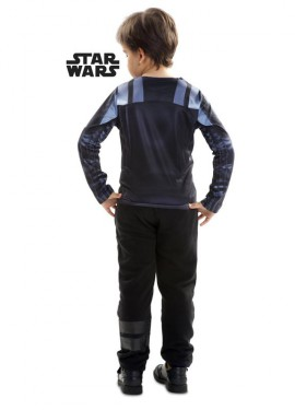 Camiseta disfraz Darth Vader de Star Wars para niño