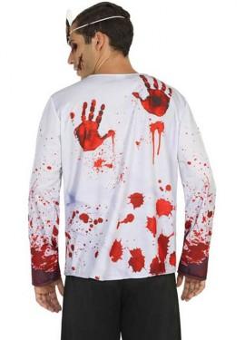 Camiseta Disfraz de Doctor Sangriento para hombre