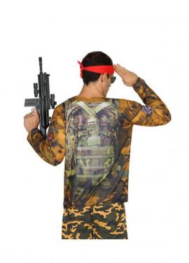 T-shirt soldat Camouflage pour homme, Disponible en taille M-L