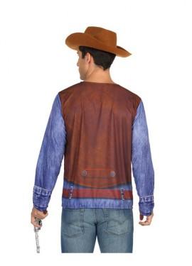 Camiseta disfraz de Vaquero para hombre