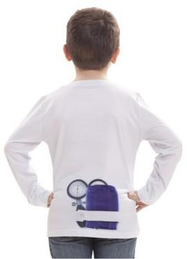 Camiseta disfraz Doctor o Doctora para niños