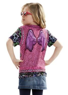 Camiseta disfraz Estrella del Rock para niña