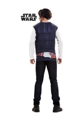 Camiseta disfraz Han Solo de Star Wars para hombre