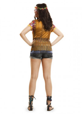 Camiseta disfraz hippie para mujer
