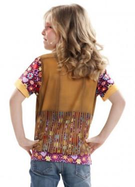 Camiseta disfraz Hippie para niña