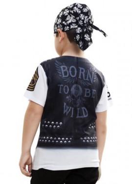 Camiseta disfraz Motero para niño