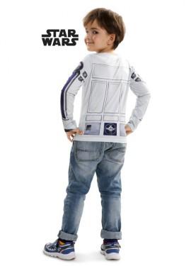 Camiseta disfraz R2-D2 de Star Wars para niño