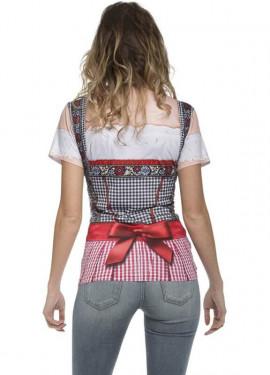 Camiseta disfraz Tirolesa Oktoberfest para mujer