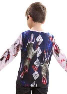 Camiseta disfraz Zombie para niños