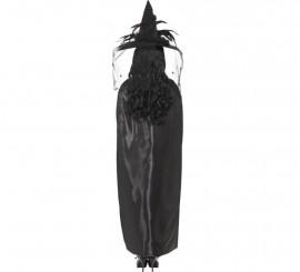 Capa de bruja deluxe Negra