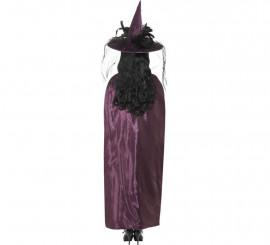 Capa Reversible de Bruja Morado y negra para mujer