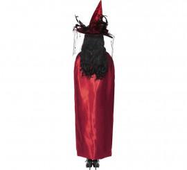 Capa Reversible de bruja Roja y negra para mujer