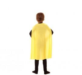 Capa Superhéroe Infantil Amarilla de 70 cm