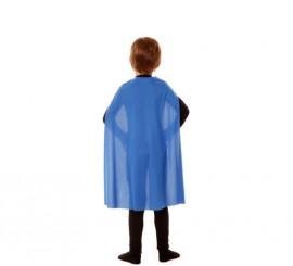Capa Superhéroe Infantil Azul de 70 cm