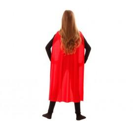 Capa Superhéroe Infantil Roja de 90 cm