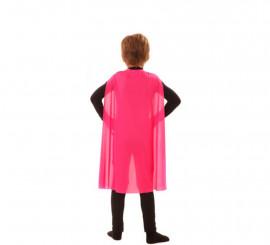 Capa Superhéroe Infantil Rosa de 70 cm