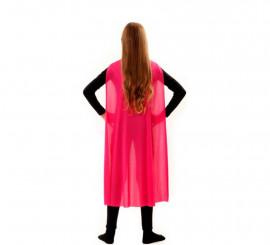 Capa Superhéroe Infantil Rosa de 90 cm