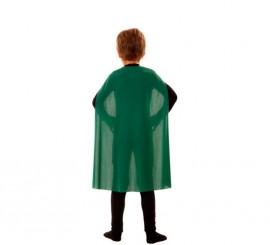 Capa Superhéroe Infantil Verde de 70 cm