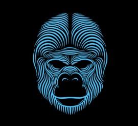 Careta de Gorila iluminación LED