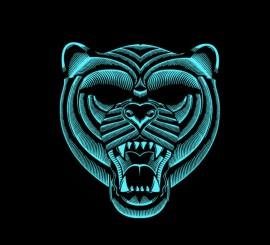 Careta de Tigre iluminación LED