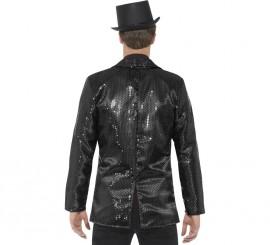 Veste à Sequins Noirs pour homme