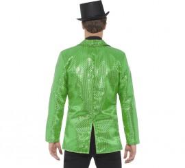 Chaqueta Verde con Lentejuelas para hombre