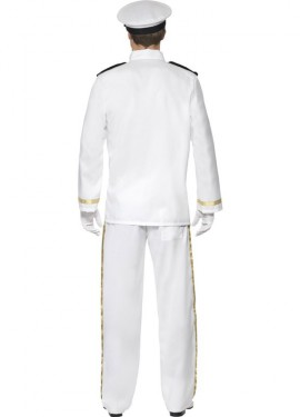 Déguisement Capitaine Marin Deluxe blanc pour homme plusieurs tailles