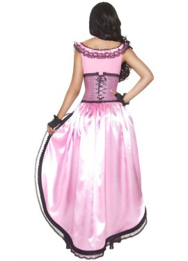 Déguisement Saloon - Cabaret rose pour Femme plusieurs tailles
