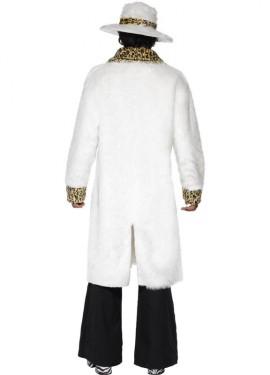 Disfraz Chulo de Los Años 70 Blanco para Hombre talla M