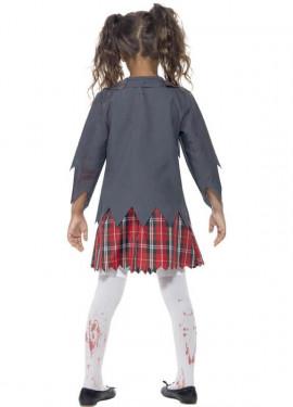 Disfraz Colegiala Zombie para Niña