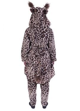 Disfraz Conjunto Jirafa Capucha Flúor Naranja para adultos