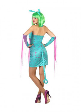 Disfraz de Alien Sexy azul para mujer