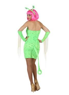 Disfraz de Alien Sexy verde para mujer