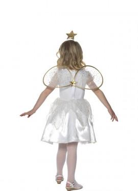 Disfraz de Ángel con Estrella Para niña