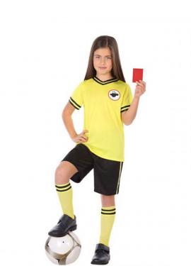 Déguisement d´Arbitre de Football Jaune pour enfant