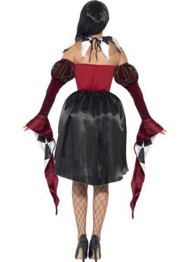 Disfraz de Arlequín Gótico para mujer