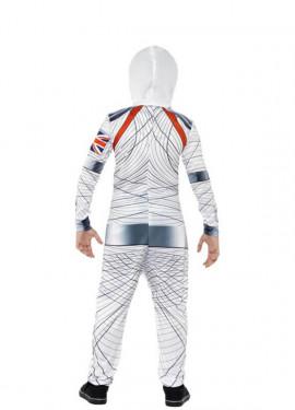 Disfraz de Astronauta de lujo blanco para niño