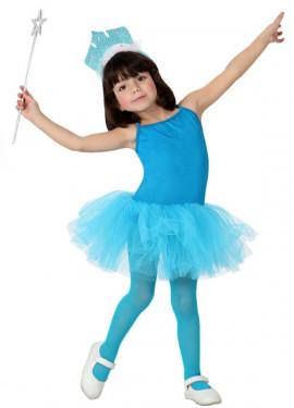 Disfraz de Bailarina Azul para Niña