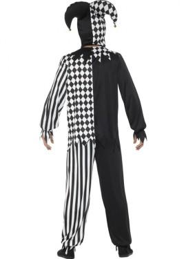 Disfraz de Bufón Malvado Blanco y Negro para hombre