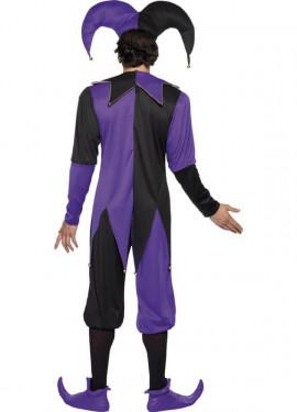 Disfraz de Bufón Medieval para hombre talla M