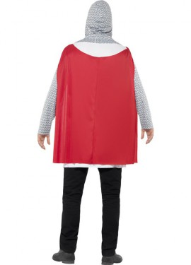 Disfraz de Caballero Medieval Blanco para hombre