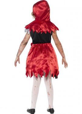 Déguisement du Chaperon Rouge Zombie pour fille Halloween 2015
