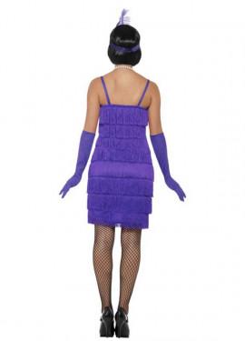 Disfraz de Chica de los Años 20 morado para mujer