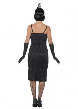 Disfraz de Chica de los Años 20 negro para mujer