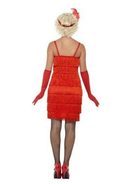 Disfraz de Chica de los Años 20 rojo largo para mujer