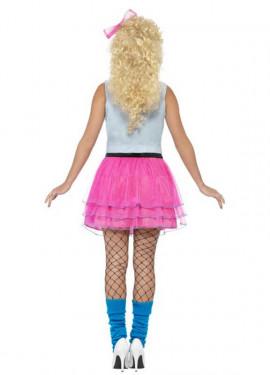 Disfraz de Chica de los Años 80 para mujer