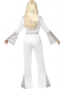 Déguisement Disco années 70 Blanc pour Femme plusieurs tailles