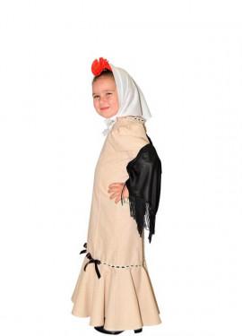 Disfraz de Chulapa Beige para niña