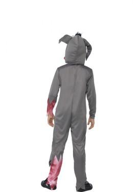 Disfraz de Conejo Atropellado Gris para niño