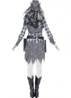 Disfraz de Cowgirl o Vaquera Fantasma para Mujer talla M